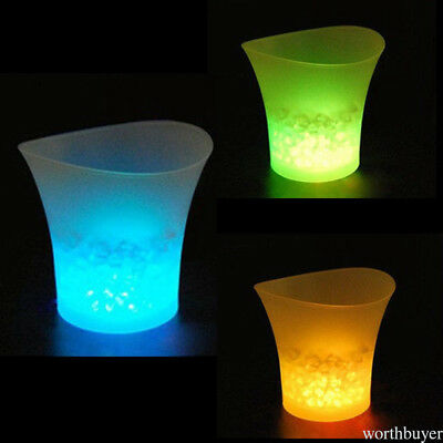 Ice Bucket Wine Cooler LED Luminous pour KTV Bars Night Party