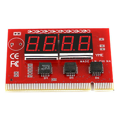 Red LED Digit Diagnostic Tester POST Analyzer Card PCI Motherboard Computer
