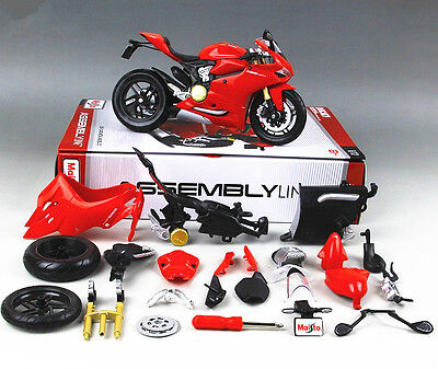 Maisto 1:12 Ducati 1199 Panigale Assembly KIT DIY Motorcycle Bike Model New