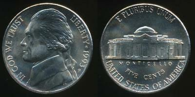 United States, 1993-P 5 Cents, Jefferson Nickel - Uncirculated