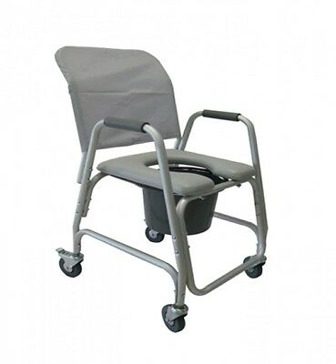 PADDED 3-in-1 COMMODE : FOR BATH~SHOWER, MOBILE~TOILET,  & WHEELCHAIR