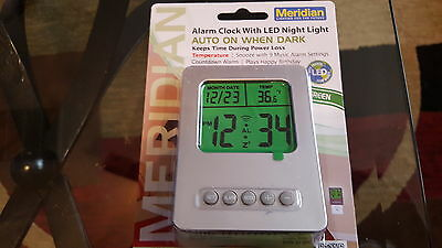 Clock Night Light, Plug-in White LED Cool Safety, Security, Hall, Bath, Bedroom