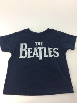 Beatles navy logo shirt 18 months baby silver graphic