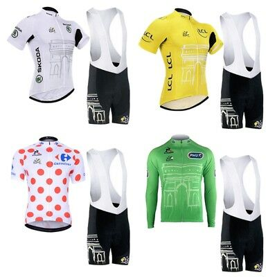 Fashion Printing Cycling Kit Short-sleeved Bicycle Jersey Padded Bib Shorts Sets