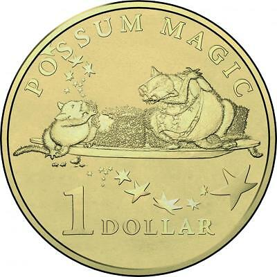 Australian One Dollar $1 - 2017 - POSSUM MAGIC Coin - Lamington Hush - RAM Mint