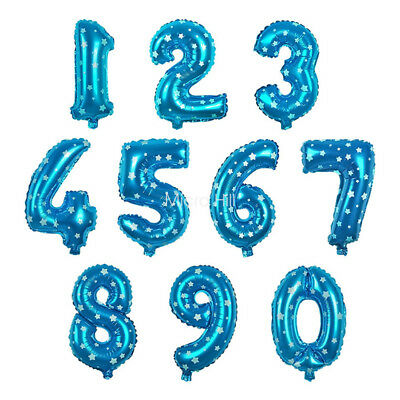 40/32/16 Inches Foil Number Balloons Birthday Baby Wedding Decoration Helium