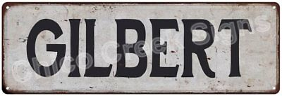 GILBERT Vintage Look Rustic Metal Sign Chic City State Retro 6185841