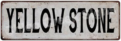 YELLOWSTONE Vintage Look Rustic Metal Sign Chic City State Retro 6186070