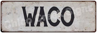 WACO Vintage Look Rustic Metal Sign Chic City State Retro 6185737