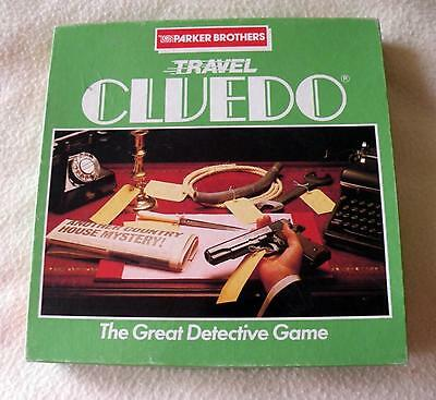 Vintage Travel Cluedo Board Game  - 100% Complete - VGC - 1984 - 2-6 players