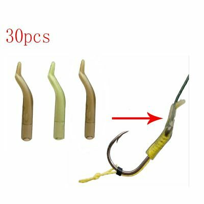 30pcs Fishing Hook Sleeve Rig Aligner Tube Positioner Terminal Tackle