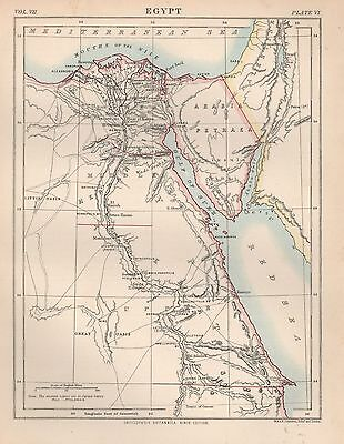 1898 Antique Map Africa Egypt