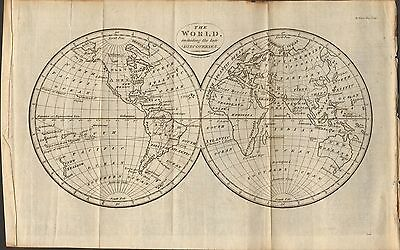 1804 Antique Map- The World Including The Late Discoveries-S I Neele
