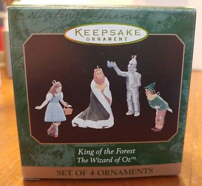 1997 NEW HALLMARK KING OF THE FOREST Wizard Of Oz 4 MINIATURE ORNAMENTS Dorothy