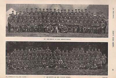 """1915 Ww1 Welch Horse, """"b"""" Squadron And """"c"""" Squadron"""