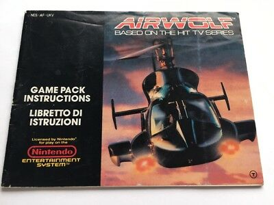 Airwolf  Nintendo NES Instruction Manual