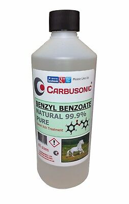 Benzyl Benzoate, sweet itch lotion insect repellent 99.9% pure , Benzoic acid.
