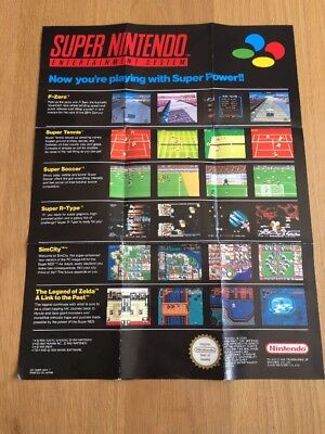 Now You're Playing With Super Power Poster / Flyer Super Nintendo SNES