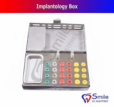 Implantology Box Dental Implant Surgical Bur Holder Endo Silicone Box CE Smile