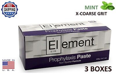 Element Prophy Paste Cups Mint X-Coarse 200/box Dental W/fluoride - 3 Boxes