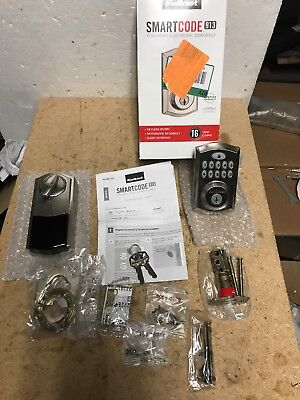 Kwikset SmartCode 913 Touch Pad Electronic Deadbolt Satin Finish 99130-002