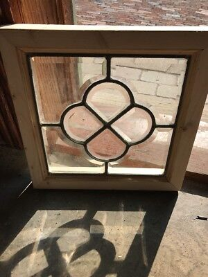 Sg 1547 Antique All Beveled Glass Floral Window 12 1/2 Square