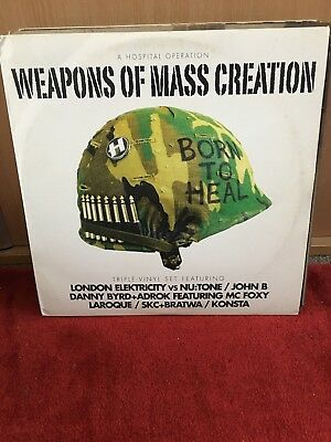 """Weapons Of Mass Creation 3x12"""" LP Hospital Records"""