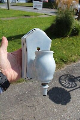 Vintage Art Deco Porcelier Porcelain Bathroom Wall Sconce Light Fixture Retro
