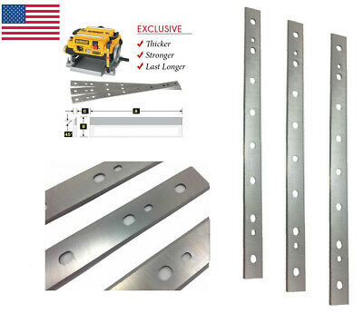 "13"" High-speed Steel Planer Blade For Dewalt DW735 DW735X Replacement 3 Pack"