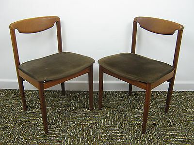 Pair of Danish styled Retro Dining Chairs, Vintage Desk Chair. Northants