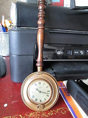 Vintage working mechanical clock by Smith's c1970's small bedpan shape now £12!!