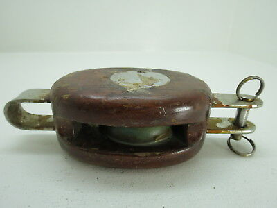 2 Inch Wood Bronze Pulley Block And Tackle Pully Sail Boat (#252)