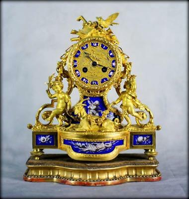ORMLOU CHERUB PORCELAIN MANTLE CLOCK - Outstanding quality