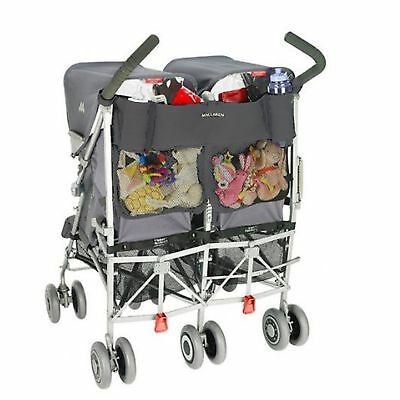 Maclaren Universal Twin Buggy / Pushchair Organiser Charcoal / Black New In Pack