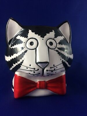 1980s Kliban Cat & Red Bowtie Mug Cup by Sigma Tastesetter Excellent