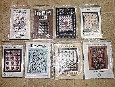 7 New Quilt Patterns~Logcabin~Lone Star~Dresden Square/heart~Choice