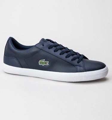 4e9734352f4a21 LACOSTE LEROND LEATHER Mens Trainers Navy Uk 6-11 - EUR 78