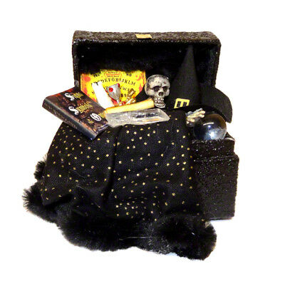 Dollhouse Halloween Magic Witch Wizard Filled Trunk Haunted House Miniatures