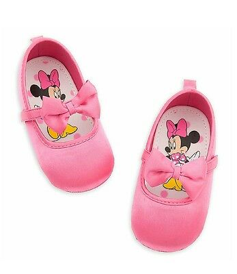 Disney Store Baby Girl Minnie Mouse Halloween Pink Costume Shoes With Bow