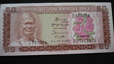Sierra Leone - Fifty Cent  Banknote - 1984 - Crisp Uncirculated