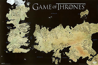 Game of Thrones - GOT - Horizontal Map - Poster #0D