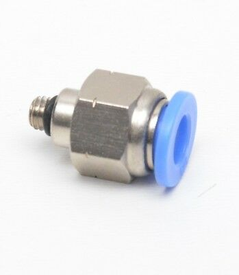 Straight Push to Connect 1/4 OD Tube x 10-32 UNF Male Fitting FasPartsUSA