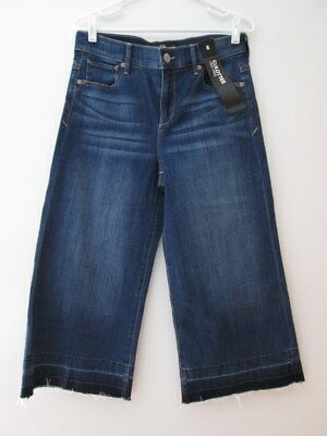 Express Jeans High Rise Culottes Cropped Capris Medium Wash-  Size 8- NWT