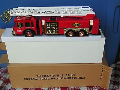 1995 GOLD Sunoco Aerial Tower Fire Truck--series 2---serial # 4382