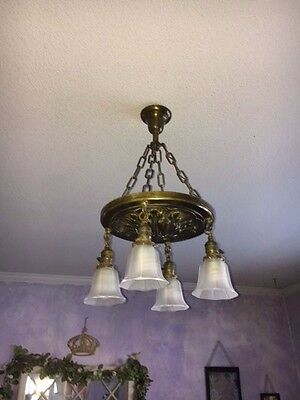 Vintage/Antique Pan Ceiling Light-Canopy-Circa 1910