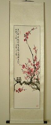 Chinese Scroll Painting Plum with birds 梅 USA seller see note