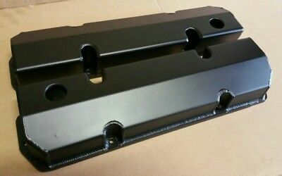 Holden V8 EFI 304 5 Litre BLACK Sheet Alloy Fabricated Valve Rocker Covers VN