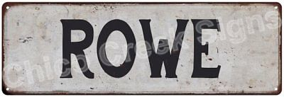 ROWE Vintage Look Rustic Metal Sign Shabby Chic Family Name 6186208
