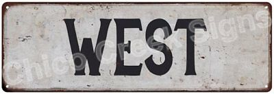WEST Vintage Look Rustic Metal Sign Shabby Chic Family Name 6186159