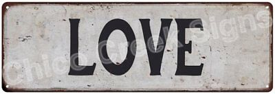 LOVE Vintage Look Rustic Metal Sign Shabby Chic Family Name 6186195